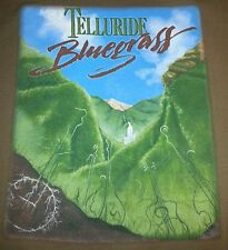 Telluride Bluegrass Festival 34th Anniversary T shirt vintage EUC rare organic t