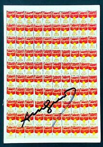 Hand Signed Signature - Andy Warhol - 100 CAMPBELL SOUP CANS - 4x6 Postcard
