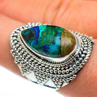 Large Chrysocolla 925 Sterling Silver Ring Size 8.25 Ana Co Jewelry R44592F