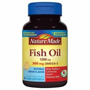 Fish Oil  Natural Lemon Flavor 60 Liquid Softgels