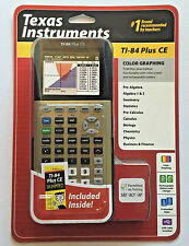 NEW Texas Instruments TI-84 Plus CE Graphing Calculator DUMMIES INCLUDED, Gold