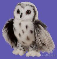 "Douglas Crescent SILVER OWL 10"" Plush Stuffed Bird Animal Cuddle Toy NEW"