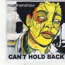 (EH425) Matt Henshaw, Can't Hold Back - DJ CD
