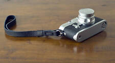 Zhou OneKnot Wrist black leather Strap For Leica Nikon Zeiss