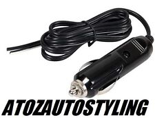 Cigarette Lighter Power Plug Accessory with LED & 120cm Long Cable 12V & 24V