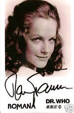 MARY TAMM DOCTOR WHO FIRST ROMANA SIGNED AUTOGRAPH 6 x 4 PRE PRINTED PHOTOGRAPH