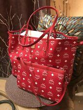 NEW MCM Authentic Medium KISSEN Shopper Bag Wine NWT