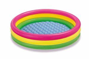 INTEX Sunset Glow Baby Pool Planschbecken aufblasbar Schwimmbecken Kinderbecken