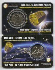 2 euro 2018 * 50 ans d'astro-2B  * COINCARD * BELGIQUE *