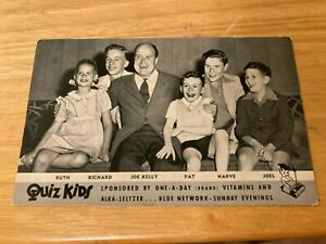 QUIZ KIDS PANEL RCA BLUE RADIO NETWORK