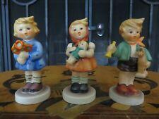 Hummel Goebel Children Trio Set Girl Nosegay Doll Boy Horse 239 Abc 3 Figurines