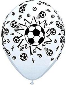 "Football Soccer Balls Latex Balloons 11"" Qualatex Free 1st Class Post Pk 10"