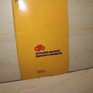 CAT DJB Caterpillar D275 D330 D350 Articulated Dump Truck Operation Guide Manual