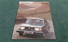 1980 VOLVO 240 244 SALOON DL GL GLE + LPG - UK BROCHURE