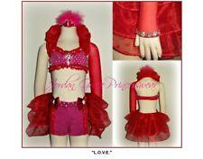 dance costume, Jordan Grace Princess Wear, two-piece, red/pink, worn twice