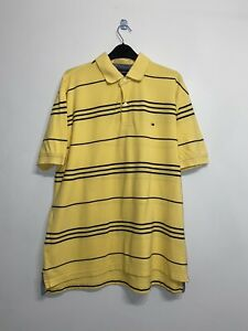Tommy Hilfiger Large Mens Yellow Polo Shirt