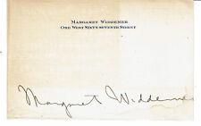 Margaret Widdemer Pulitzer Prize winning poet & novelist circa 1920s Autograph