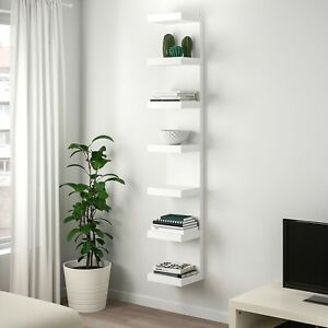 IKEA LACK 6 Tier Wall Mounted Floating Shelf Unit Display Storage White 30x190cm