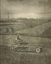 K0341 Seminatrice munita di rullo - Agricoltori - Stampa antica