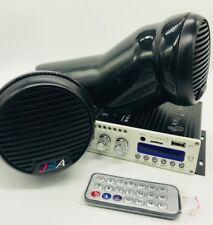 Yamaha Jetski 2 Speaker Pod Kit Stereo Amp Bluetooth Universal Fit On Seadoo