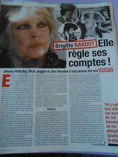 Coupure Presse Clipping 2017 Brigitte Bardot elle règle ses comptes