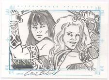 Xena Art and Images Cris Bolson Xena and Callisto Sketch Card