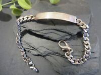 Tolles 925 Silber Sterling Armband Panzerkette Platte Ohne Name Gravur Muster