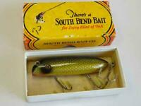 Heddon Vintage South Bend Bass Oreno Green Scale With Box