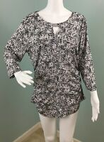NWT Women's Vince Camuto Abstract Print Keyhole Tunic Top Shirt Sz XL