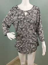 NWT Womens Vince Camuto Abstract Print Keyhole Tunic Top Shirt Sz XL Extra Large