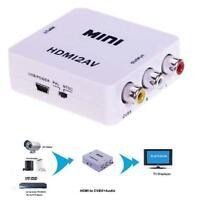 Composite 1080P HDMI to RCA Audio Video AV CVBS Adapter Converter For HDTV A