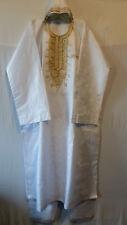 Men African Brocade Dashiki Long Pant Suit Big N Tall Clothing White Plus Size