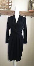 NEW MM Lafleur Blair Dress Black Size 6 $295 Workwear Office Flawed