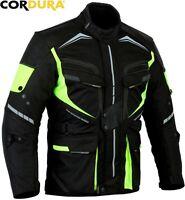 HiViz SPEED RIDER CE ARMOUR MENS MOTORBIKE / MOTORCYCLE TEXTILE JACKET / COAT