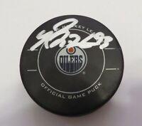 2011-12 Ryan Nugent-Hopkins Edmonton Oilers Signed Game Used Goal Scored Puck