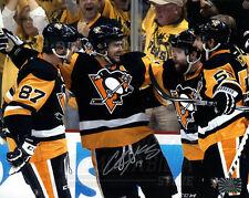Chris Kunitz Pittsburgh Penguins Signed Autographed Goal Celebration Crosby 8x10