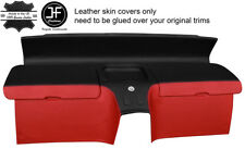 BLACK&RED REAL LEATHER REAR STORAGE PANEL COVERS FITS HONDA CRX DEL SOL 92-97
