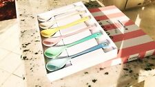 Le Creuset RARE!!! Sorbet Collection Spoons Set of 6 New!!