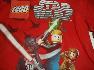 Star Wars Boy's Lego Red and Black Long Sleeve Shirt Medium 5/6