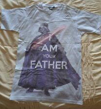 """Primark Mens Star Wars """"I am your Father"""" Darth Vader T Shirt size XS (35"""") New"""