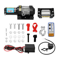 More details for electric recovery winch 12v 4000lbs heavy duty remote control rope trailer e6r2