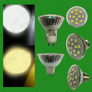 4x 3W Epistar SMD 5050 LED Spot Light Bulbs Cool Daylight or Warm White Lamps