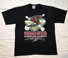 Vtg Sacramento River Cats Milb Mens XL Black S/S T-Shirt C3