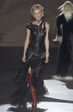 Roberto Cavalli Runway/Editorial Black Leather Dress Fall/Winter 2003 Size Small