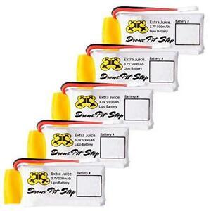 5pcs 3.7V 500mAh Upgrade LiPo Battery For Hubsan X4 H107L H107C H107D H107P H108
