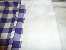 "VW T2 Bay, split screen Camper van purple, white 1""gingham check curtains(lined)"
