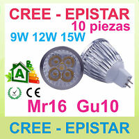 x1 Regulable lampara LED mr16 gu10 9w 12w 15w CREE Epistar - excelente calidad!