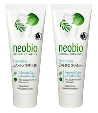 Dentifrice bio sans fluor 75 ml Neobio LOT DE 2