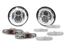 8PCS 90-97 Mazda Miata MX5 MX-5 LED Headlight + Clear Signal + Side Marker Light