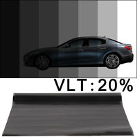 MEDIUM SMOKE BLACK 20% CAR WINDOW TINT 6M x 76CM FILM TINTING ANTI-SCRATCH